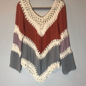 Tops - 🆕 Beautiful Open Knit Boho Tunic